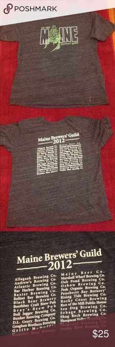HP🎉Maine l Brewer's l Guild HOST PICK Maine Brewer's Guild Size 2XL Brand Tag cut off Mens Brewers Maine Casual Comfy Tee Shirts