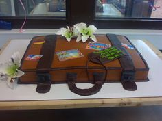 Suitcase Farewell Cake