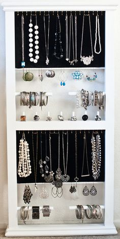 JewelRax Jewelry Organizer (The Emerald) from JewelRax Jewellery Storage, Jewellery Display, Jewelry Organization, Organization Hacks, Design Crafts, Diy Crafts, Bracelet Organizer, Hanging Jewelry, Love To Shop