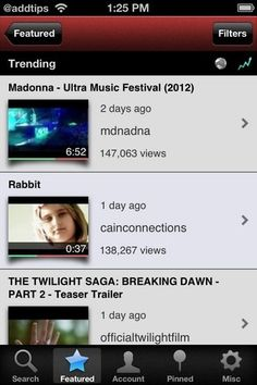 Tubeacco: Search, Manage & View YouTube Videos On iPhone - via http://bit.ly/epinner