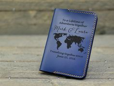 Personalized Leather Passport Holder with United States Map, Leather Passport Covers , US Map, Travel Map, Adventure awaits - United States Passport, United States Map, Gifts For Husband, Gifts For Boys, Passport Online, Travel Chic, Diaper Bag, Passport Cover, State Map