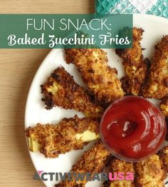 Baked Zucchini Fries Recipe - These healthy baked zucchini fries are an amazing alternative to potato fries. They're crunchy on the outside, fluffy on the inside and so much better for you than ordinary fries.
