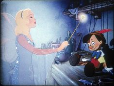Screencap Gallery for Pinocchio Bluray, Disney Classics). Inventor Gepetto creates a wooden marionette called Pinocchio. His wish that Pinocchio be a real boy is unexpectedly granted by a fairy. Disney Magic, Disney Pixar, Walt Disney, Pinocchio Disney, Disney Films, Disney And Dreamworks, Disney Animation, Disney Love, Disney Characters