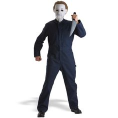 "Michael Myers Child Costume - Includes blue character jumpsuit and foam toy knife (11"" long).  Michael Myers mask sold separately.  Shoes not included.  Included knife is smaller than shown. Large (11-14)."