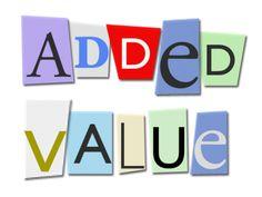 Conceptos de valor añadido y valor no añadido.