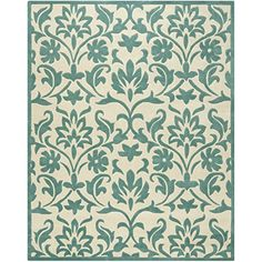 Safavieh Modern Art Collection MDA635A Handmade Floral Vines Ivory and Light Blue Polyester Area Rug 8 x 10 *** You can get more details by clicking on the image. (Amazon affiliate link)