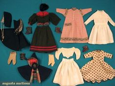 doll accessories 1860 | DOLL CLOTHING & ACCESSORIES, 1860-1900