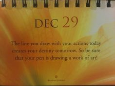 Draw w work of art with your actions today