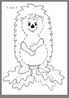 Colorir animais da floresta é maravilhoso? Coloring forest animals is wonderful? Easy Fall Crafts, Fall Crafts For Kids, Kids Crafts, Diy And Crafts, Paper Crafts, Colouring Pages, Coloring Books, Hedgehog Craft, Free To Use Images