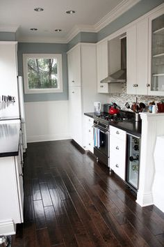 1000 images about paint it on pinterest craftsman for Blue gray paint for kitchen