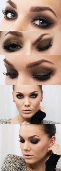 #makeup #beauty #eyeshadow #brown #smokey