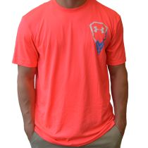 234291ff1  LacrosseUnlimited Under Armour Icon Lacrosse Tee Coral in Adult Sizes.   lacrosse  alwaysCustom