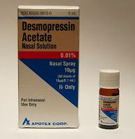 Recommended initial doses of desmopressin vary depending on the route it is being administered. Description from endocrinevet.blogspot.com. I searched for this on bing.com/images