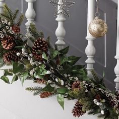 The Decorations You Need For A Grown-Up Christmas Christmas Staircase, Christmas Frames, Christmas Mantels, Christmas Home, White Christmas, Christmas Wreaths, Cottage Christmas, Merry Christmas, Tree Decorations