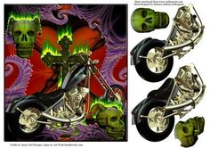 Wild One Chopper Motorcycle Decoupage on Craftsuprint - Add To Basket!