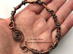 Twisted Rustic Copper Bracelet  by Zoraida for $35.00 #zibbet #rustic