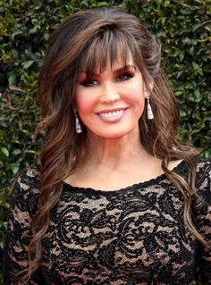 Marie Osmond At Annual Daytime Emmy Awards, Los Angeles Medium Hair Styles For Women, Long Hair Styles, Marie Osmond Hot, Brunette Hair Color With Highlights, The Osmonds, Beautiful Old Woman, Hair Color And Cut, Asian Hair, Celebs