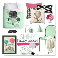 """""""Happy People"""" by drenise ❤ liked on Polyvore featuring interior, interiors, interior design, home, home decor, interior decorating, Villa Home Collection, FilamentStyle, 5 Surrylane and Kartell"""