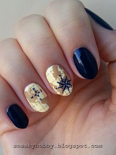 Old world map nail art nails pinterest map nails and makeup gumiabroncs Images