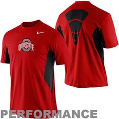 86c802da967 Nike Ohio State Buckeyes Pro Combat Hypercool Fitted Performance T-Shirt - Scarlet  Ohio State