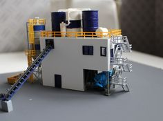 N Scale Concrete Plant Silos by Ngineer N Scale Trains, Standard Gauge, Hobby Trains, 3d Prints, Classic Toys, Model Trains, Railings, Concrete, Scenery