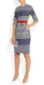 Preen by Thornton BregazziStryder paneled stretch-jacquard dress