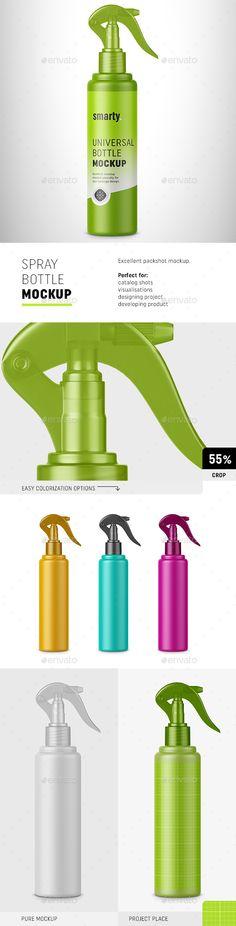 Spray Cosmetic Bottle Mockup