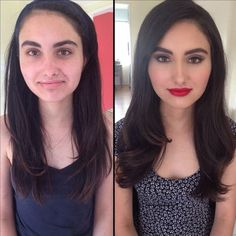 10 Photos That Prove How Much Makeup Can Completely Transform People
