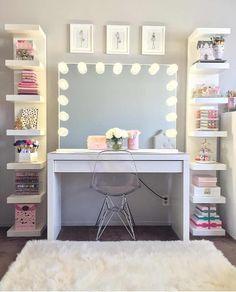 Dale luz a tu maquillaje con estas ideas de más de 30 tocadores de espejo con & Top 24 Simple Ways to Decorate Your Room with Photos | Deco ...