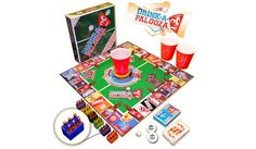 The ultimate drinking game combines a variety of old school and modern games into one great board game. Can be played with between two and twelve players.