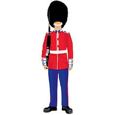 Our Royal Guard Standee has the look of an British guard wearing a red and blue uniform and a bearskin cap. This cardboard prop measures 7 feet 1 inch tall.