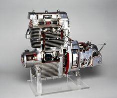 Sunbeam motorcycle engine, 1948. American Motorcycles, Old Motorcycles, Bike Engine, Crate Engines, Combustion Engine, Motorcycle Engine, Kustom Kulture, Old Bikes, Metal Projects