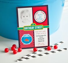 ELMO Birthday Party Invitation Sesame Street by andersruff