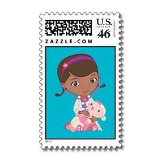 Doc McStuffins Holding Lambie Postage Stamps