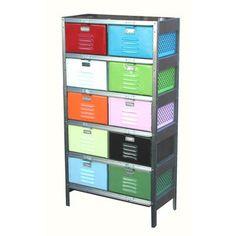 Perfect alternative for a boys dresser. Basket Locker 2x5 Multi now featured on Fab.