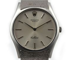 Stunning vintage men's watch, the Rolex Cellini 18ct White Gold Watch Circa 1968 might be a little out of most people's Christmas list budget but there is no denying it's beauty.
