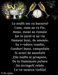 An Nou Fericit, New Year Wishes, Motto, Happy New Year, Diy And Crafts, Happy Birthday, Faith, Words, Quotes