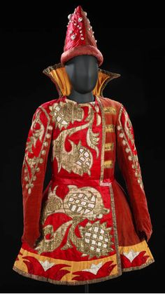 """A Natalia Goncharova costume from """"Sadko,"""" Diaghilev and the Ballets Russes, 1909-1929."""