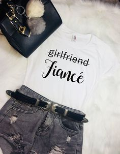 Newly engaged Fiance Shirt Girlfriend Gift Bride Gift For Best Gift For Girlfriend, Gifts For Fiance, Birthday Gifts For Sister, Valentines Day Gifts For Her, Gifts For Brother, Boyfriend Shirt, Boyfriend Gifts, Bride Gifts, Wedding Gifts