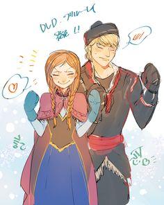 Kristoff and Anna fanart  ^__^