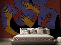 Trasformare la camera da letto con la carta da parati Luxury Wallpaper, Double Bedroom, Floral, Furniture, Beautiful, Color, Design, Home Decor, Couple Room