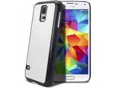 Coque Samsung Galaxy S5 Retro Leather Back Blanche