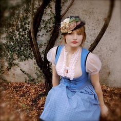 Dirndl and a hat.