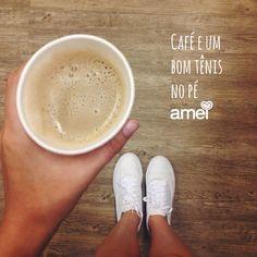 Gente que❤️café! #lojaamei #café #tênis #etiquetaamei #muitoamor