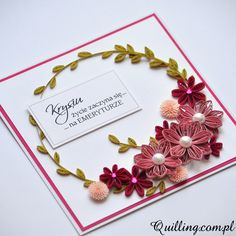 handmade, quilling, greeting card, quilling.com.pl