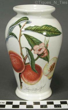 Portmeirion Pomona England Vase Nectarine Grimwood's Royal George Londinensis FF