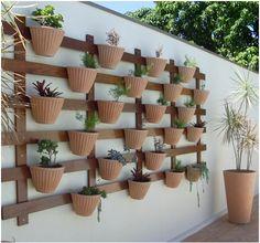 Como Fazer Jardim Vertical - Paisagismo e Jardinagem    Jardim-Vertical-Maravilhoso-em-Vasos