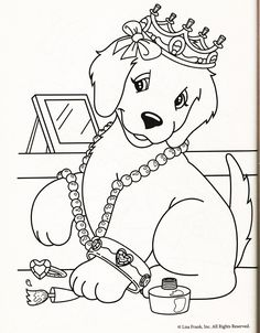lisa frank coloring page taylor hampton too perfect of kassie - Puppy Coloring Pages Print