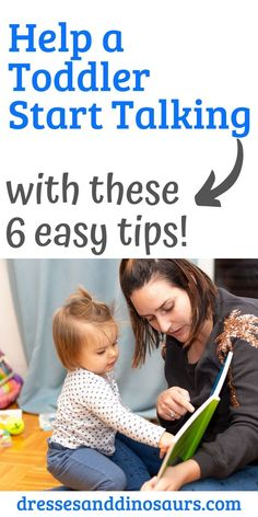 Helping your toddler start talking can be a fun and stressful process.  I was so excited to hear  my kids start to say words, but wasn't sure how to help them.  These easy tips helped me start my toddlers talking! #toddlertalk #babytalk #parentingtips