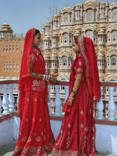 Indian women in color saris, Palace of the Wind, Jaipur, India Photographic Print by Adam Jones at Art.com